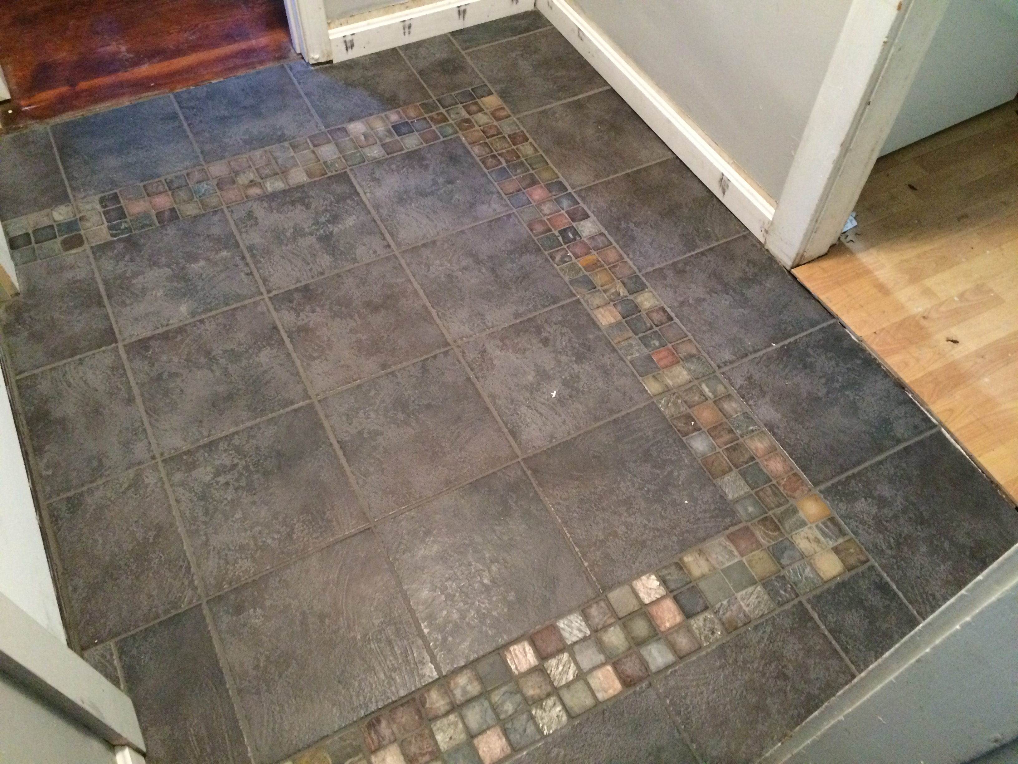 Remove old tile floor